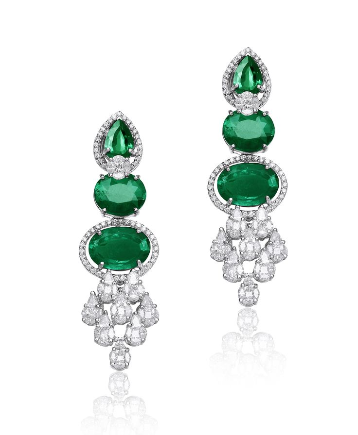 A delicate pair of earrings enhances the beauty like none other.