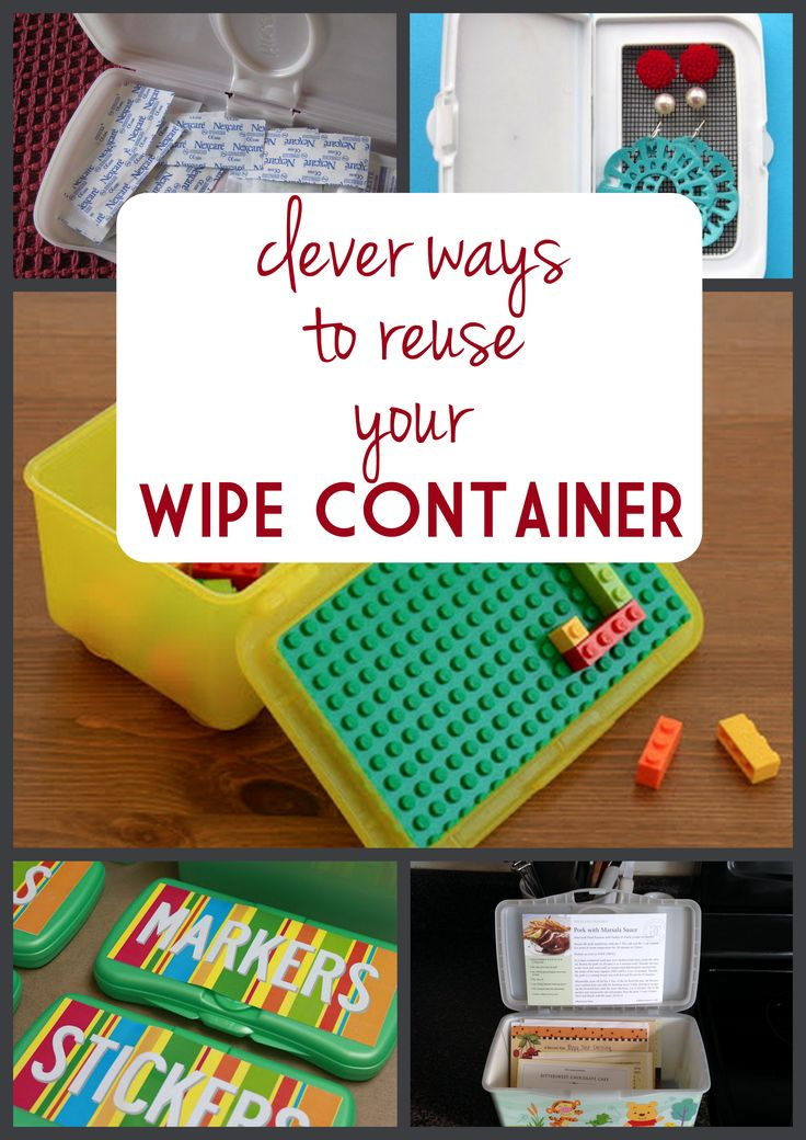 Have a bunch of empty wipe containers sitting around? Here are great DIY projects to give them clever new uses!