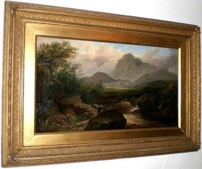 Large Antique Oil on Canvas by Listed 19th Century Artist Harry Millson Hunt | #475554420