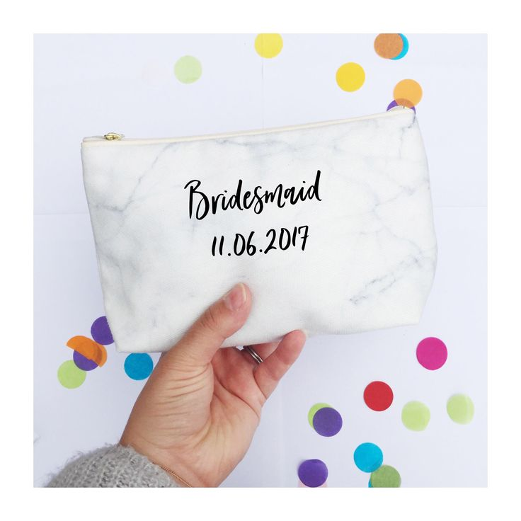Personalised Makeup bag | White Marble Print | Wash bag | make up bag | Custom makeup bag | Zipper Pouch | Handmade | Bridesmaid gift by FrazzleFlorrie on Etsy https://www.etsy.com/uk/listing/505330515/personalised-makeup-bag-white-marble