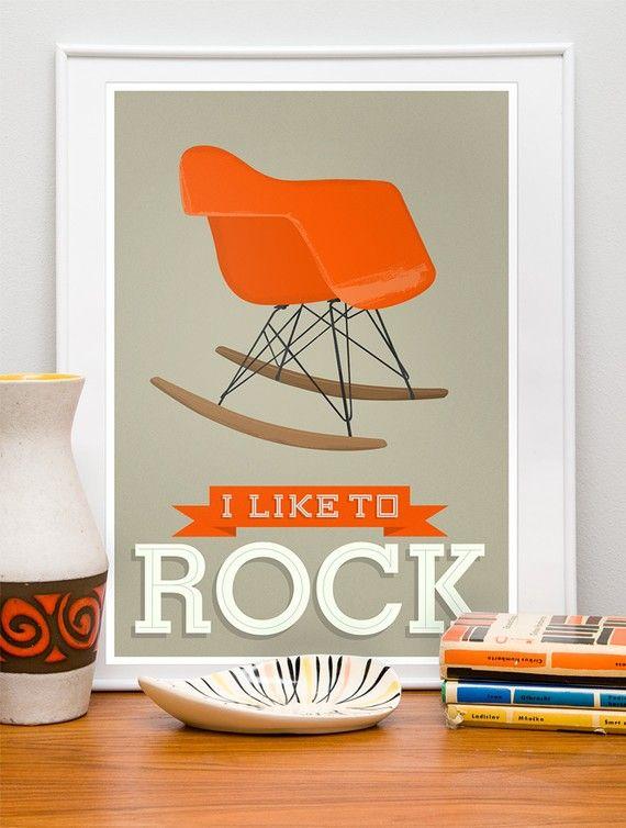 love this eames chair print!