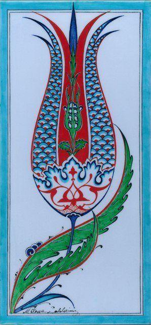 Mehmet Koçer-Ottoman tulip tile pattern