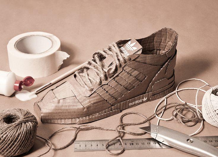 cardboard adidas originals by chris anderson
