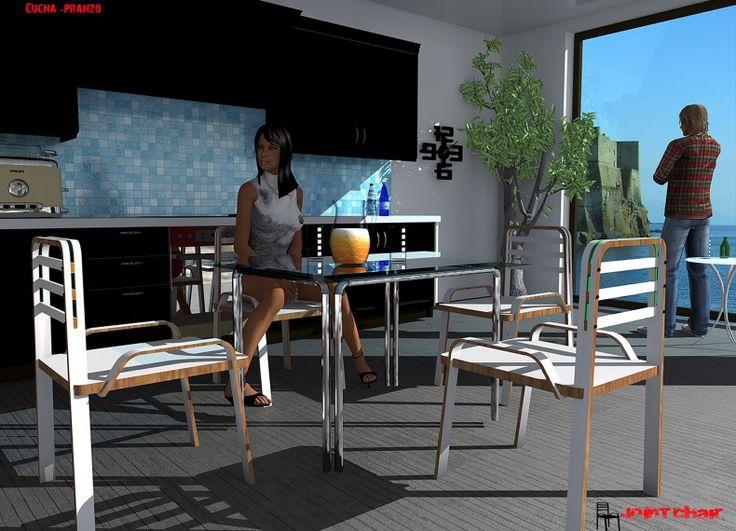 Formabilio - Joint Chair Semplice, leggera assemblata con incastri. Un design versatile,realizzabile con varie combinazioni di colori Joint una sedia da usare in ambienti diversi, cucina, pranzo esterni. La sua linea è elegante e funzionale