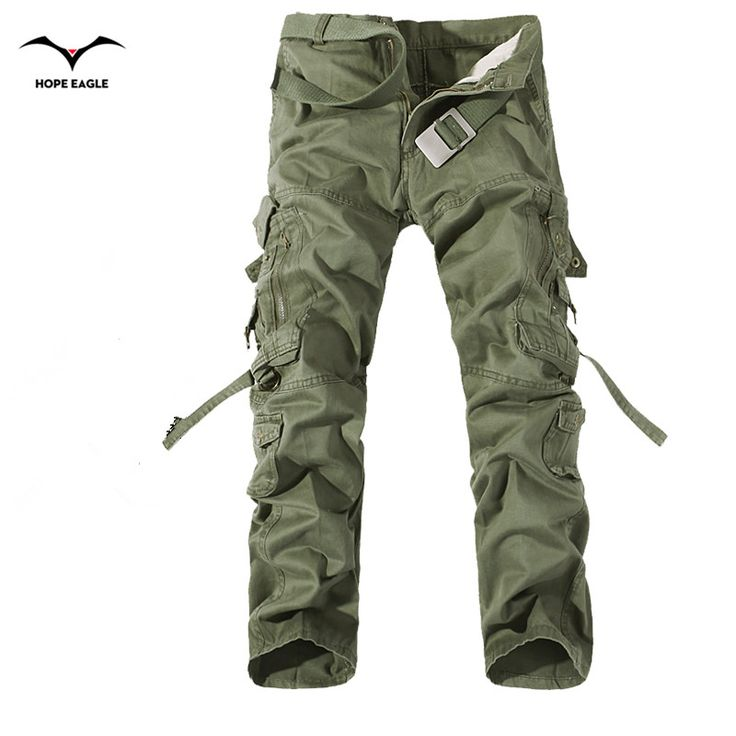 2016 New Men Cargo Pants army green big pockets decoration mens Casual trousers easy wash male autumn army pants plus size 42 ** Click the VISIT button to find out more