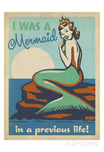 Mermaid Print by Anderson Design Group at AllPosters.com