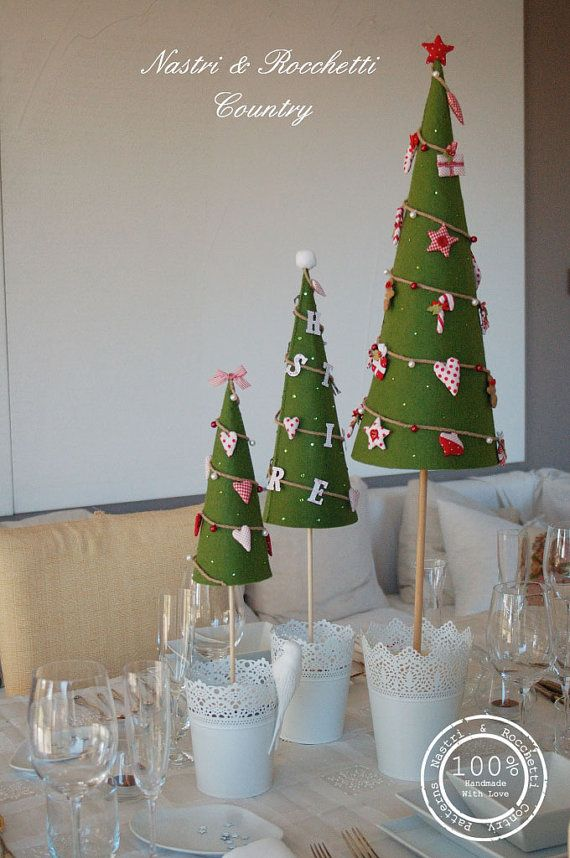 Alberi di Natale in Feltro PDF inglese di Bunnycottageshop su Etsy