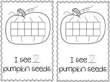pumpkin seed counting with ten frames
