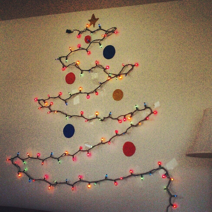 Christmas Tree Made Of Lights On Wall 7 best images about christmas on pinterest | trees, christmas