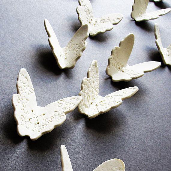 Porcelain wall art butterflies