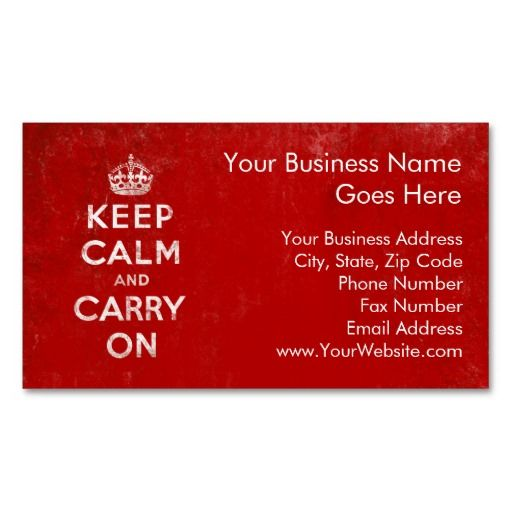 54 best red business cards images on pinterest business cards vintage deep red distressed keep calm and carry on business card template reheart Image collections