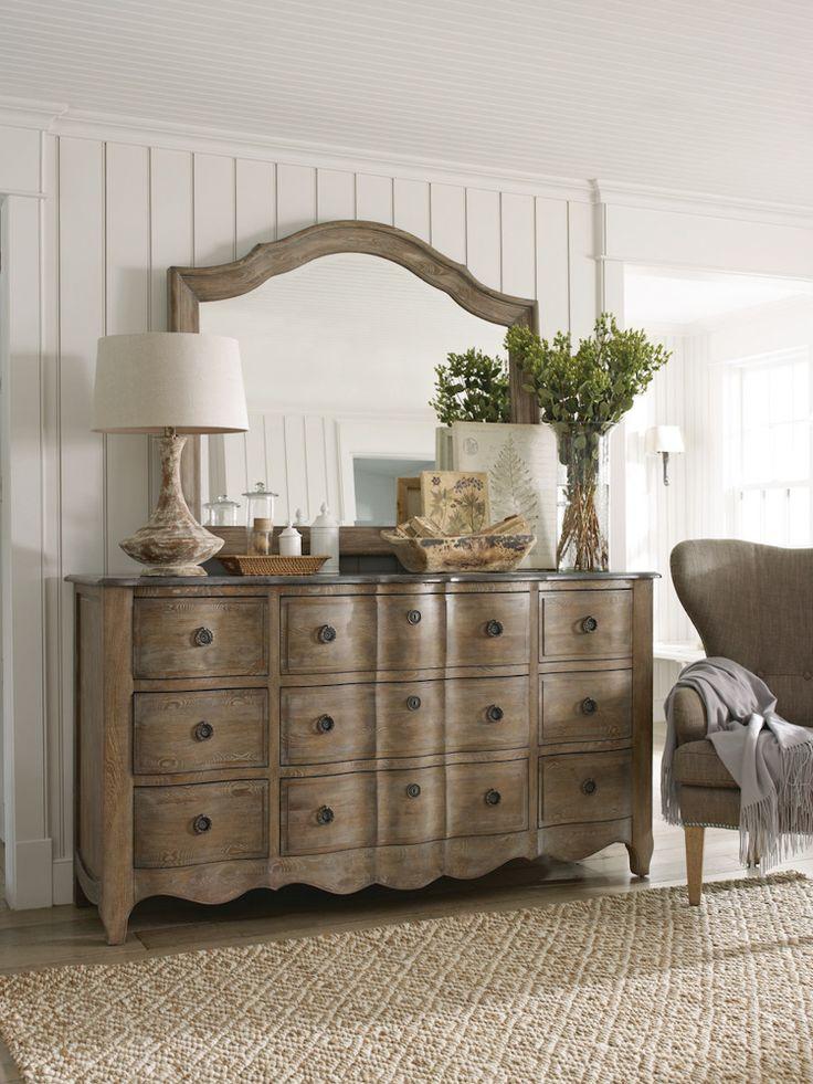 Schnadig Cobblestone Triple Dresser With Mirror Home