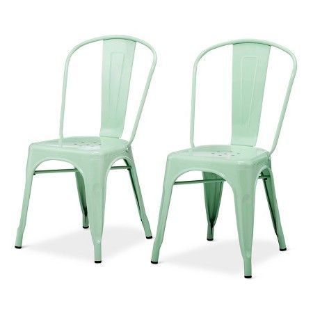 Carlisle High Back Metal Dining Chair with Wood Seat - Natural Metal (Set  of 2 - Best 25+ Metal Dining Chairs Ideas On Pinterest Farmhouse Chairs