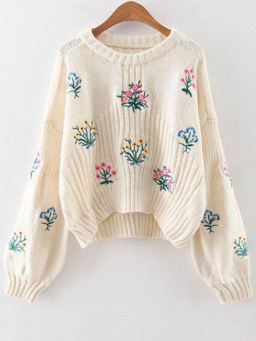 Tiny Floral Embroidered Sweater