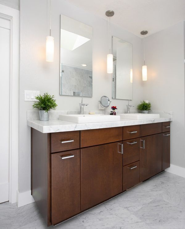 Best 25 bathroom vanity lighting ideas on pinterest for Pendant light bathroom vanity