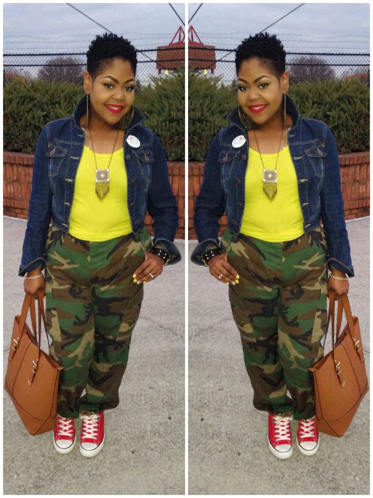 We Salute You - Army Fatigue Look Book | The Curvy Style Project