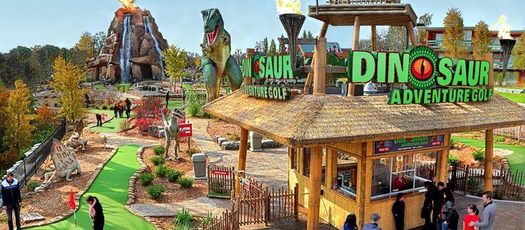 Dinosaur Adventure Golf | Clifton Hill, Niagara Falls Canada. Virtual Tour link!