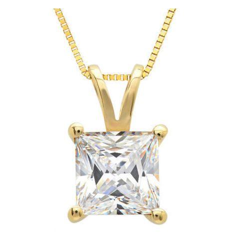 1.00 Karat Diamantanhänger in 585er Gelbgold inklusive Goldkette von www.juwelierhausabt.de in Dortmund.