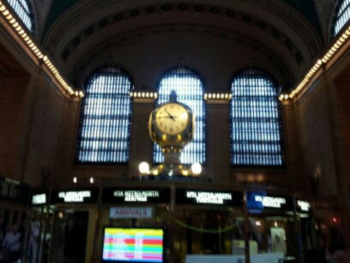 Iconic clock at grand central