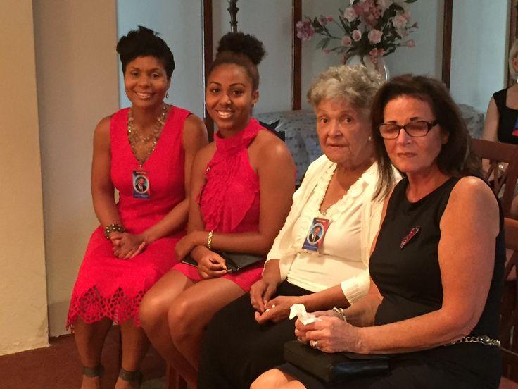 Neil Virgil's four Ladies - Jodi Virgil (daughter), Kourtney Roberts (granddaughter), Valencia Sharpe Manning (mother), Phyllis Cromwell Virgil (wife).