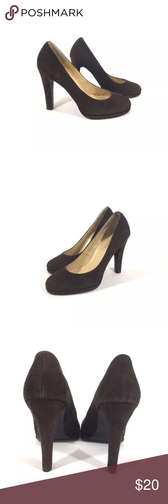"Colin Stuart Brown Stiletto Women's 4"" Heel Sz 7M Colin Stuart Stiletto Brown Women's 4"" High Heel Shoes Sz 7M Colin Stuart Shoes Heels"