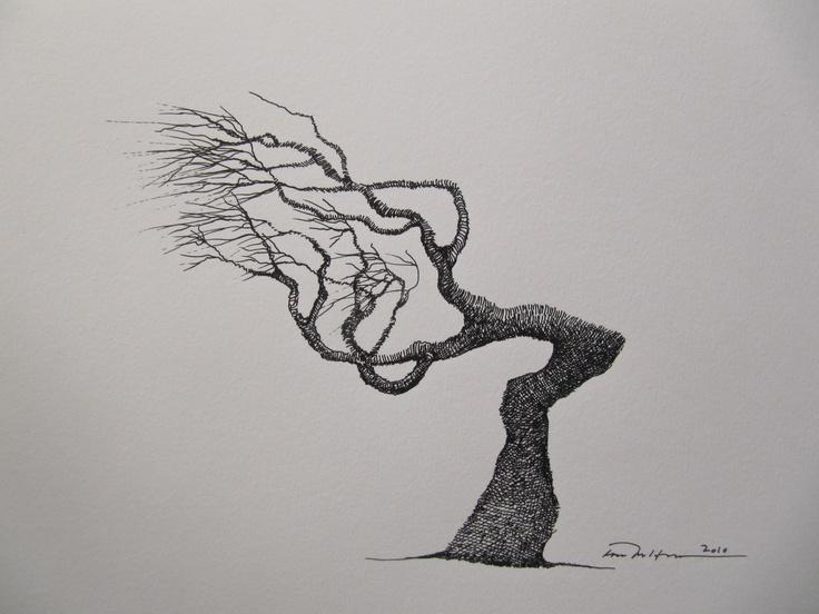 Åse Margrethe Hansen; ink drawing, 2010