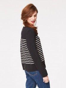 Cristina Striped Bamboo Jersey Top