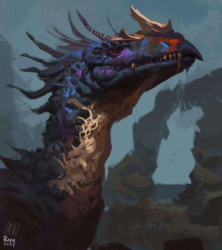 Mystic Dragon Head, Raph Lomotan on ArtStation at https://www.artstation.com/artwork/mystic-dragon-head