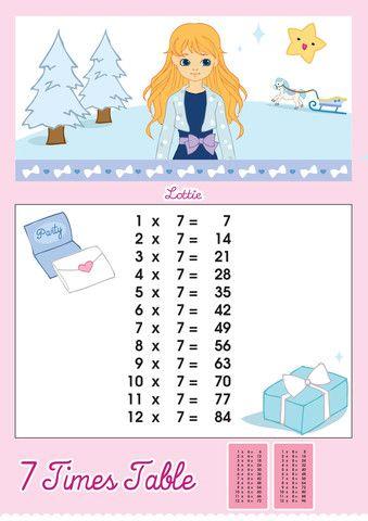 7 Times Table Printable Chart – Lottie Dolls