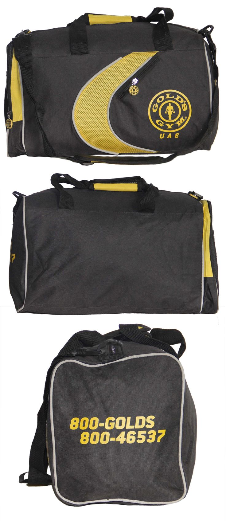 Gym Bag exclusively manufactured for Golds Gym (UAE) by Crea - India's smartest brand merchandising company.