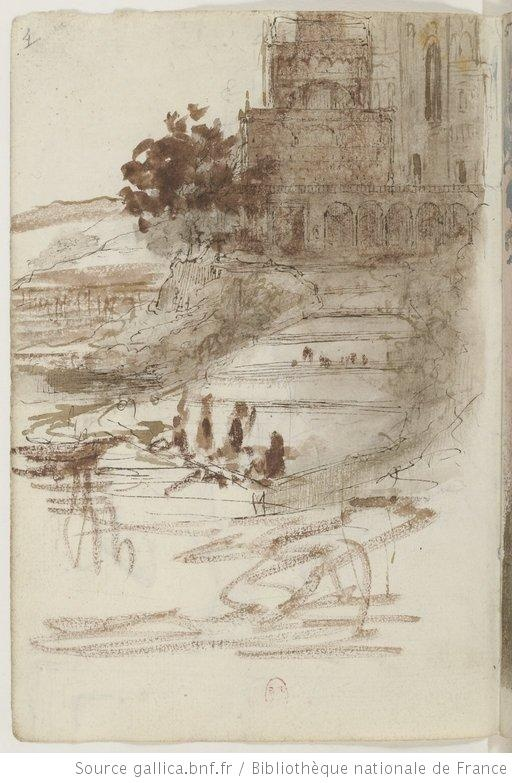 Edgar Degas. This is from one of his sketchbooks, all primary sketches. I can smell the paper.