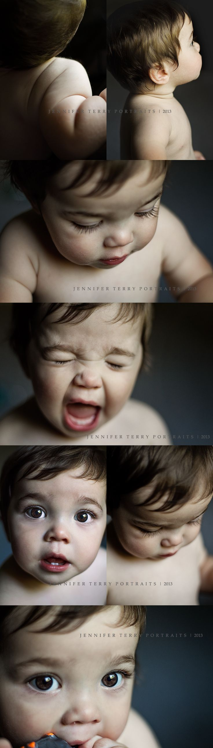 9 month old photography session. Close up and macro portrait shots. Williamsburg Newborn Photographer | Jennifer Terry Portraits