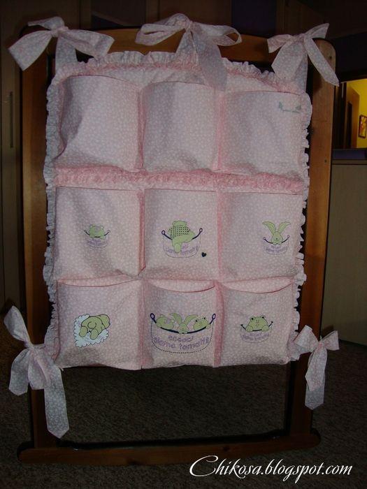 Органайзер для детской кроватки своими руками фото