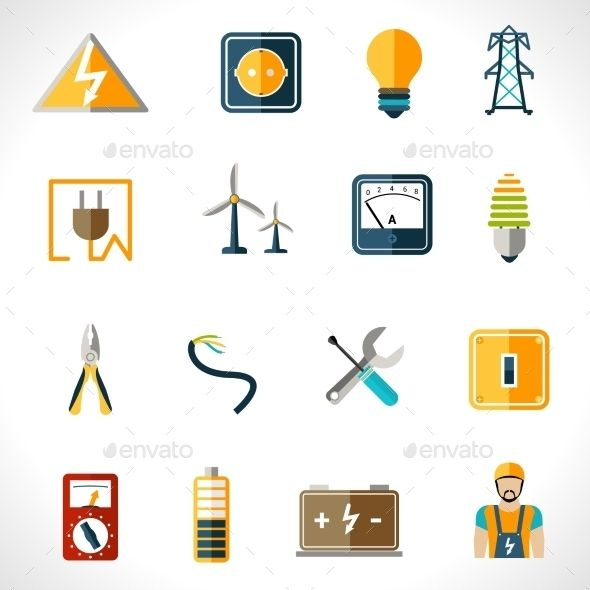 Electricity Icons Set | Download: http://graphicriver.net/item/electricity-icons-set/10020446?ref=ksioks