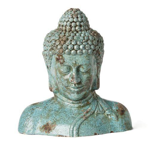 Objet de d coration bouddha buste bouddha pinterest for Objet deco turquoise