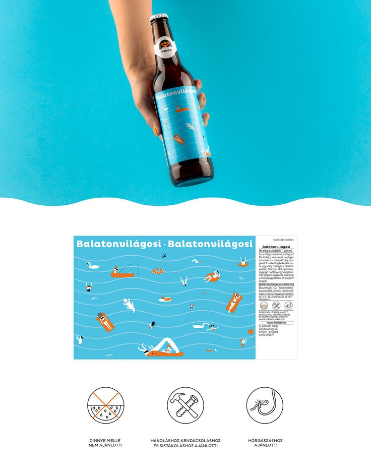 Hedon Craft Brewery Identity - Art Direction on Behance- summer beer design by Flying Objects