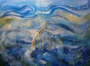 tableau marine peinture contemporai filets de peche mari peinture marine vagu art moderne ocean : Mouvements dans les filets