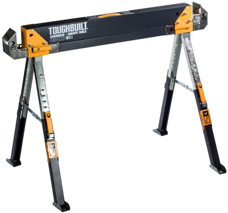 NEW Adjustable Folding Sawhorse Portable Jobsite Table Scaffold Workbench #TOUGHBUILT #Workbench  #Table #Portable