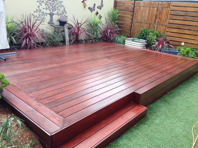 Hardwood Deck stained to Merbau with Quantum Timber Finishes TIMBREPLUS DECKING