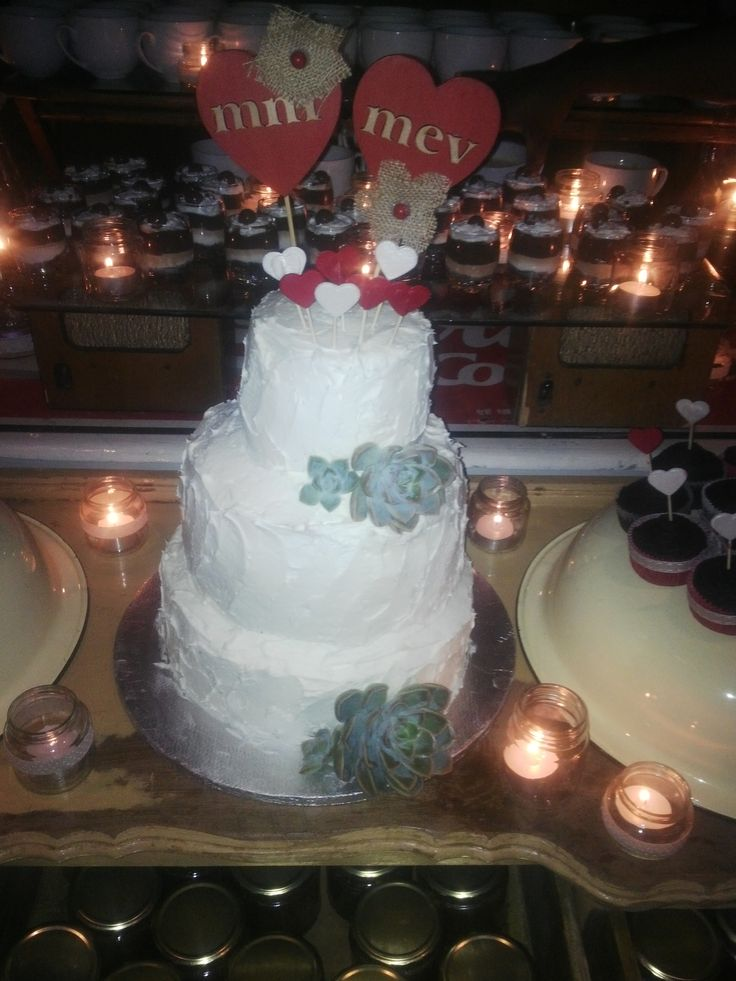 A special cake I made for my friends wedding
