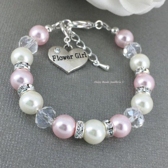 Flower Girl Bracelet Flower Girl Jewelry Flower Girls Gift