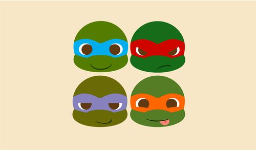 For girl who love TMNT but don't wanna manly tattoo, baby TMNT is the perfect idea! Description from pinterest.com. I searched for this on bing.com/images