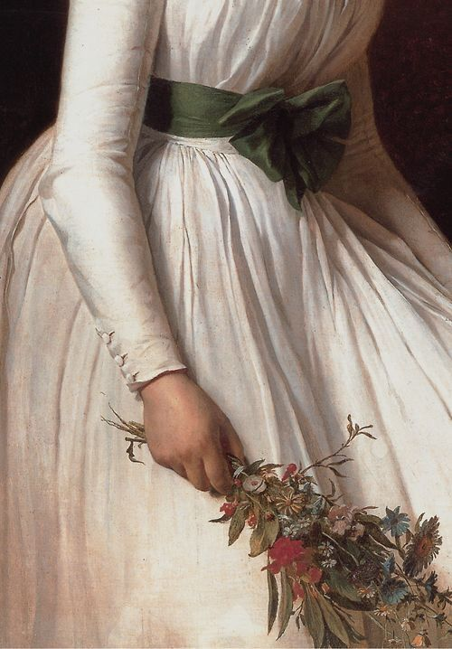 Madame Pierre Seziriat by Jacque-Louis David, 1795 (detail)