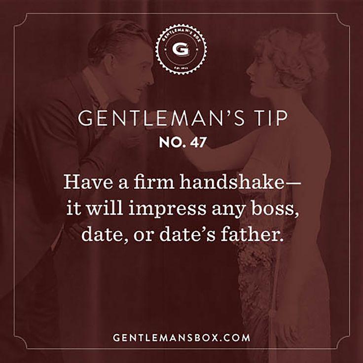 Dating tips for gentlemen