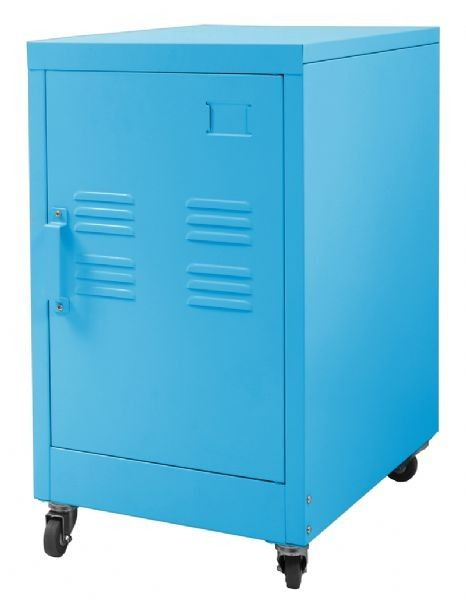 Add a hard edge to your bedroom or living decor with this super cool industrial cabinet! Available in 2 sizes and 5 funky colours!