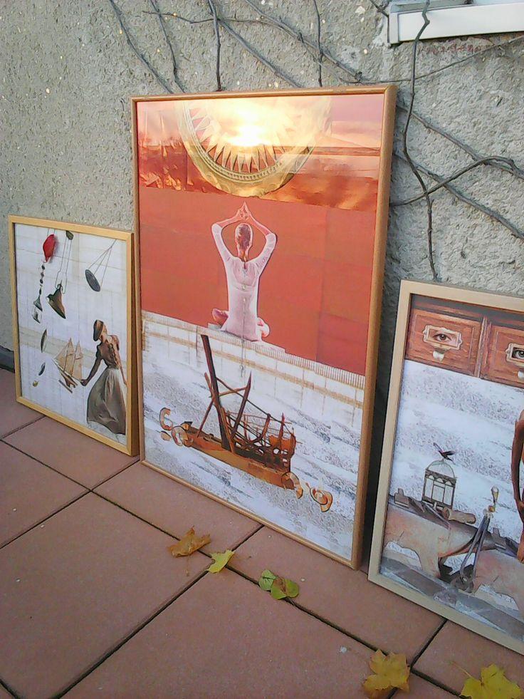 Pozdrav Slunci koláž 80 x 60 cm by Jana Černochová