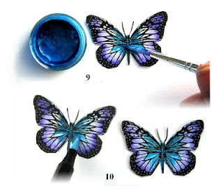 Tutorial for butterflies used in magic exploding box - tips! -visit site for more boxes