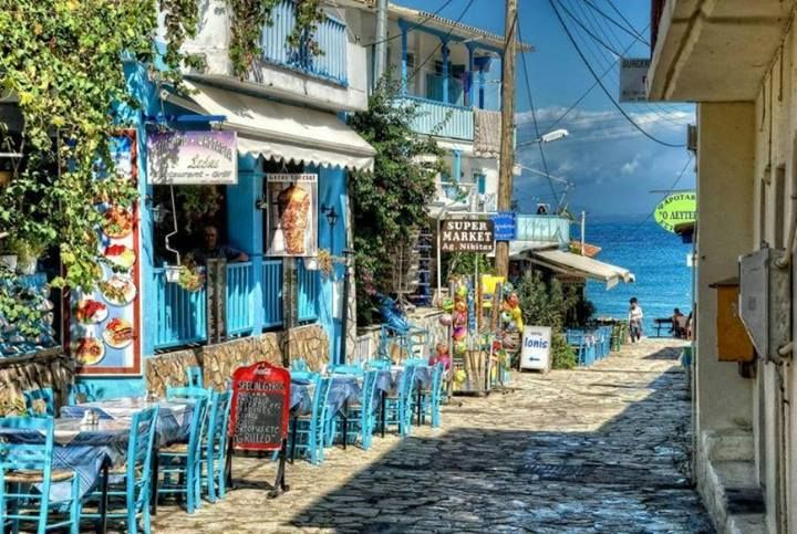 Lefkada, Greece (this is what i see in my head when i think of a vacay. lazy days at little cafés with a view of the ocean at all times...heaven)