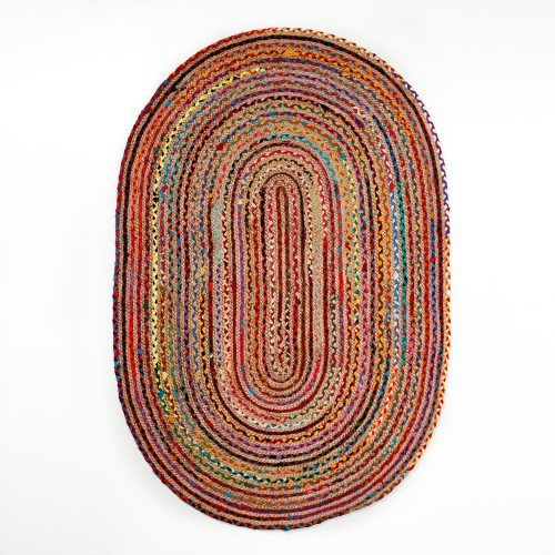 Natural Oval Rug Multi