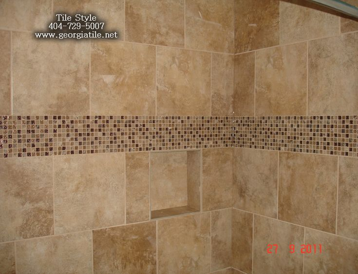 Shower tub tile designs shower niche corner shelf glass for Floor tiles border design